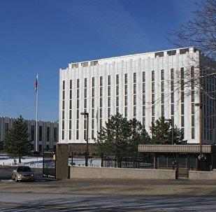 Embaixada da Rússia nos EUA em Washington (foto de arquivo)