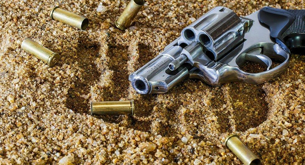Arma de fogo e cápsulas