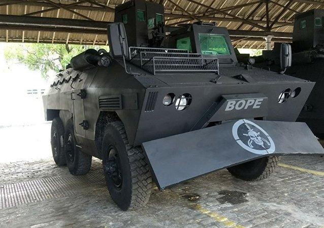 Urutu, que será repassado ao Bope, foi usado pela missão de paz brasileira no Haiti