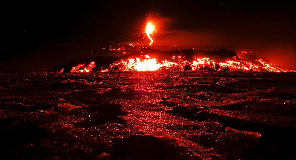Etna em erupção