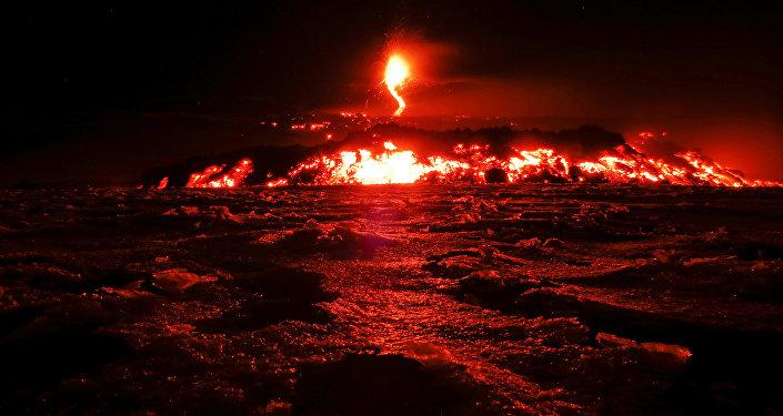 Etna em erupção, 28 de fevereiro de 2017