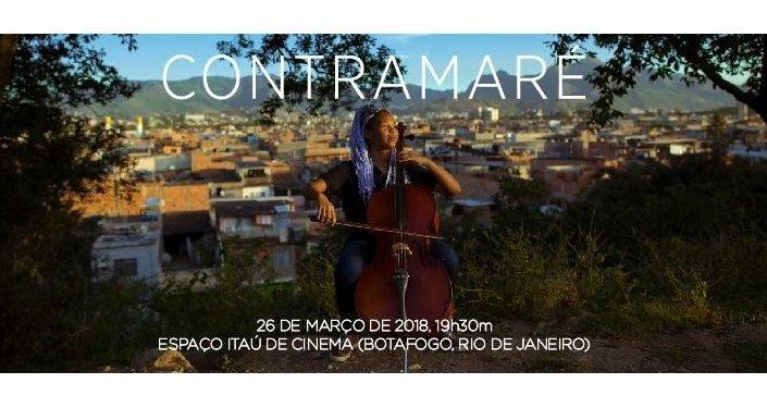 Cartaz do filme 'ContraMaré', documentário sobre o projeto Orquestra Maré do Amanhã