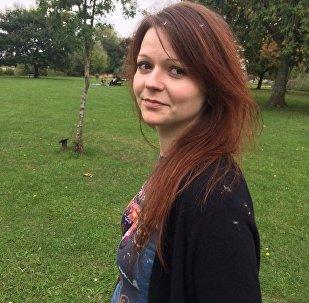 Foto de Yulia Skripal do seu perfil no Facebook, filha do ex-espião russo Sergei Skripal, 6 de março de 2018