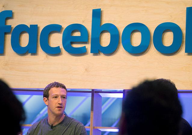 Fundador do Facebook, Mark Zuckerberg em Berlim (foto de arquivo)