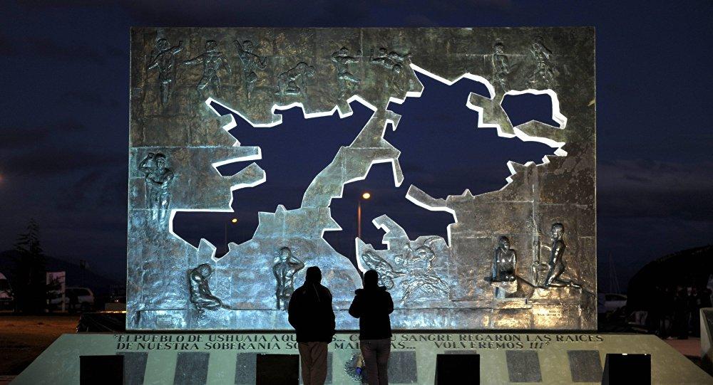 El Monumento a los Caídos en las Islas Malvinas, Ushuaia, Argentina