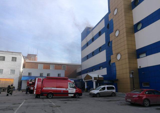 Incêndio no shopping para crianças Persei em Moscou
