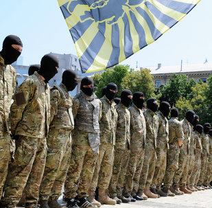 Soldados do regimento Azov