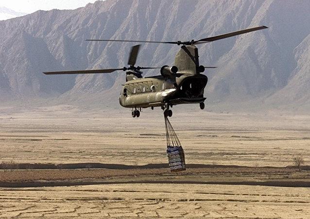 Boeing CH-47 Chinook no Afeganistão.
