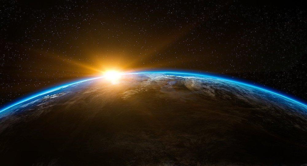 Amanhecer visto do espaço