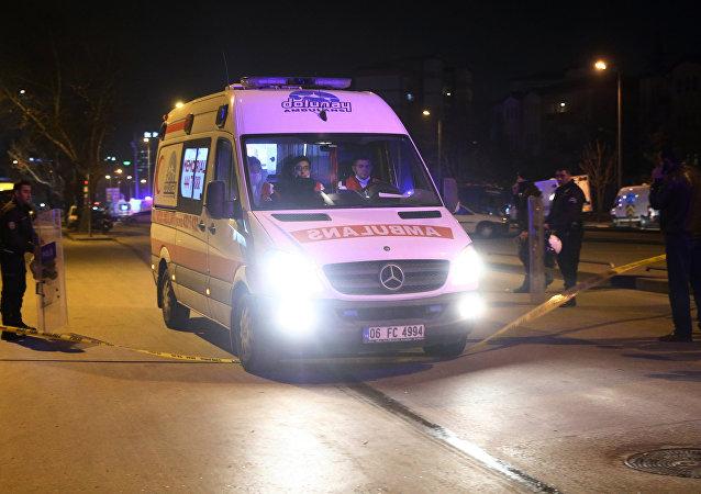 Ambulância na Turquia (foto de arquivo)