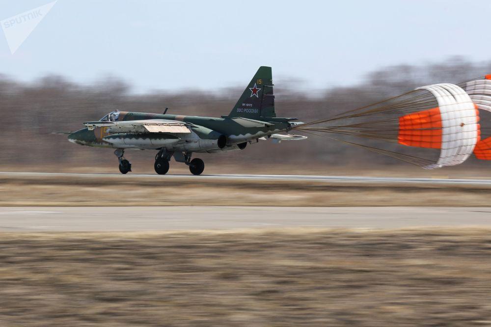 Avião de assalto Su-25 no Aviadarts 2018