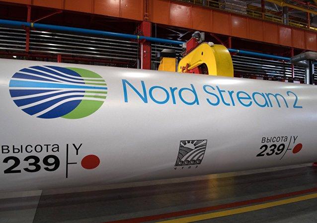Canos para construção do gasoduto Nord Stream 2