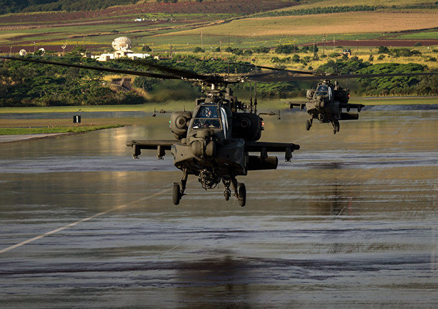 Helicópteros AH-64E Apache das Forças Armadas dos Estados Unidos