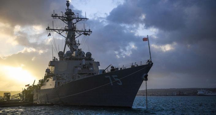 Destróier de mísseis norte-americano USS Donald Cook da classe Arleigh Burke (foto de arquivo)