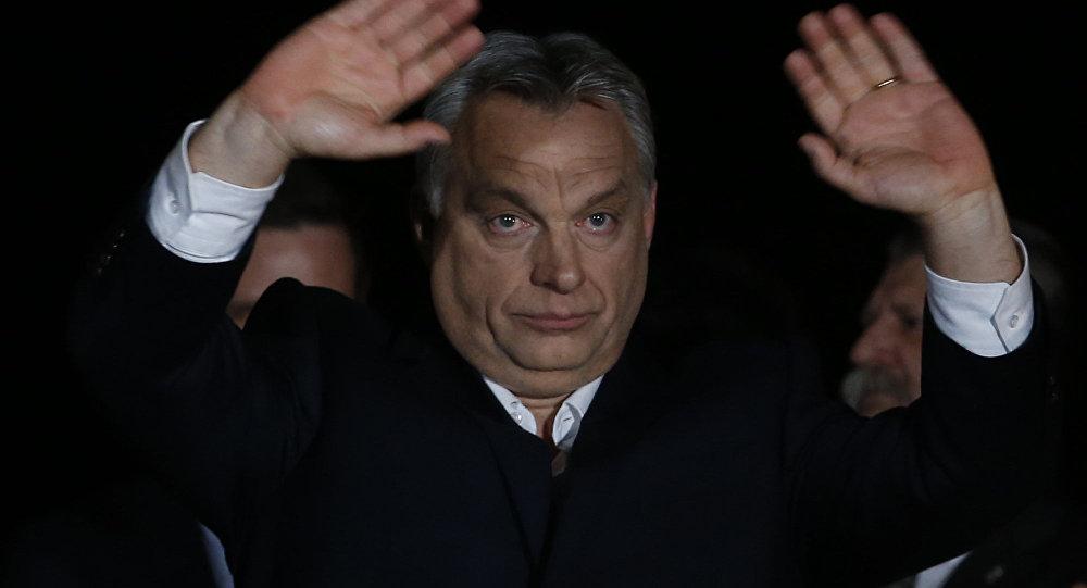 Primeiro-ministro da Hungria, Viktor Orban, em Budapeste, 8 de abril de 2018