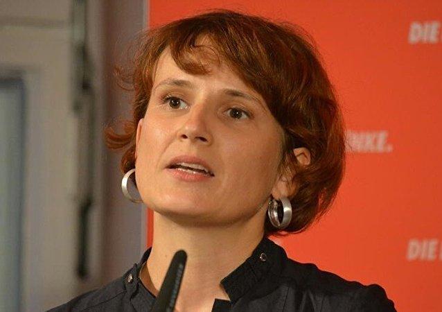 Katja Kipping, líder do partido da esquerda alemã Die Linke