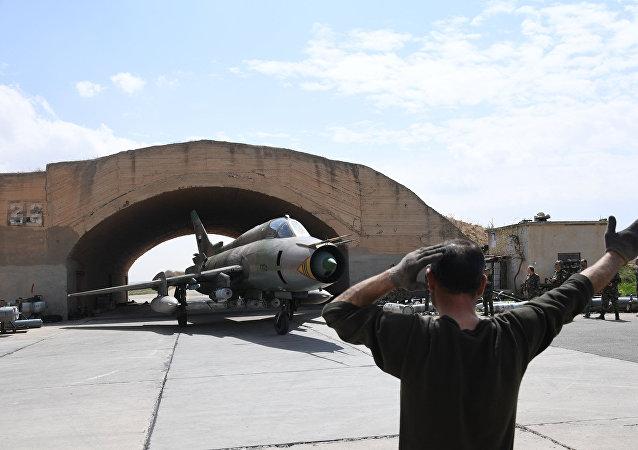 Base aérea de Shayrat na Síria (foto de arquivo)