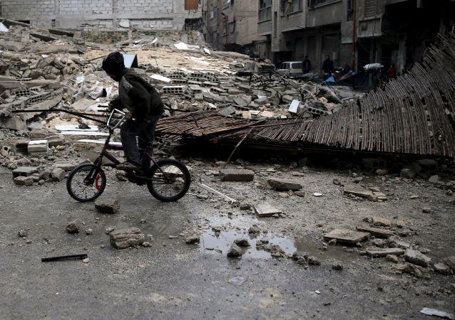 Cidade síria de Douma, foto de arquivo