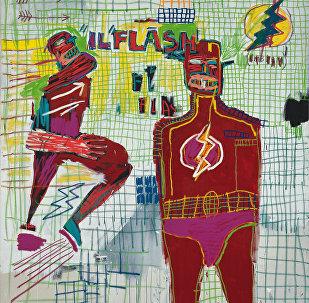 Flash em Napoles,1983/Jean-Michel Basquiat (1960-1988)