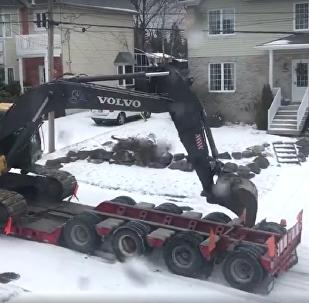 Sem dor não há vitória: assim se movem carros por estradas congeladas