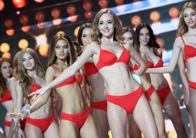 Finalistas do concurso de beleza Miss Rússia 2018.