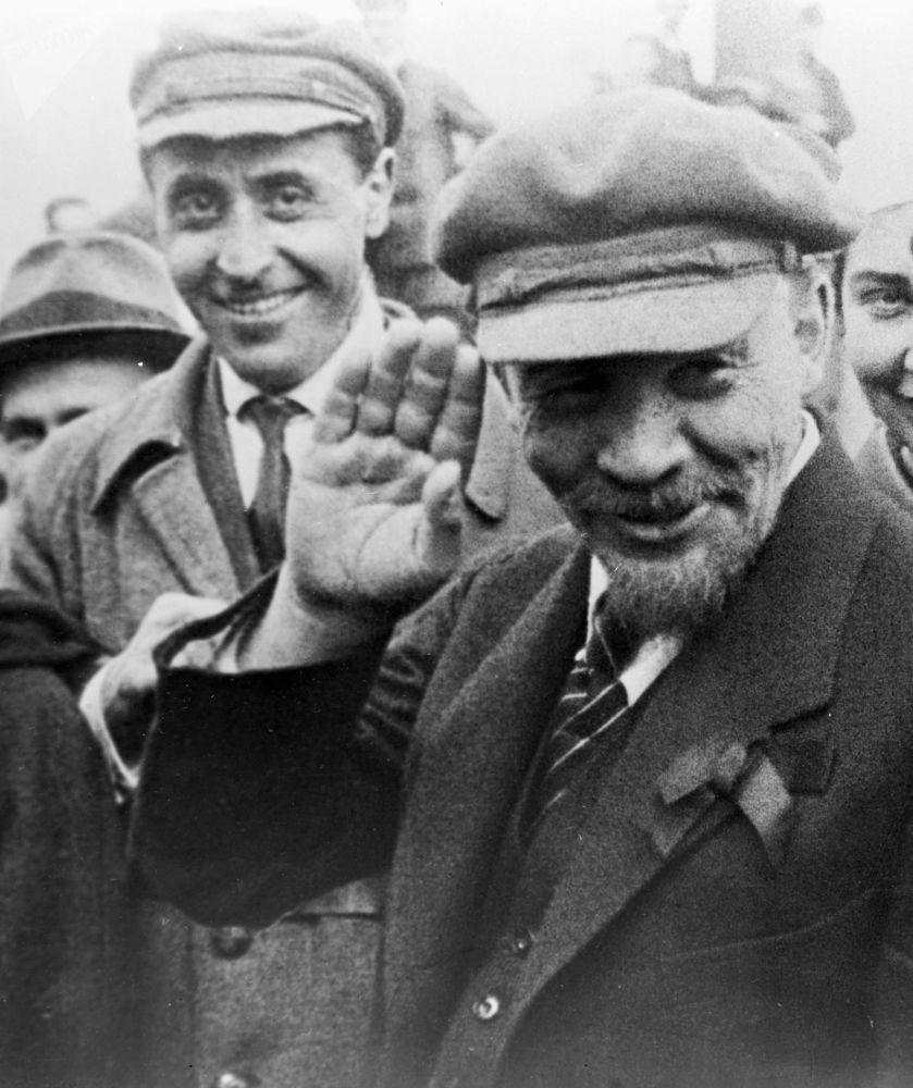 Vladimir Lenin em Moscou, 1920.