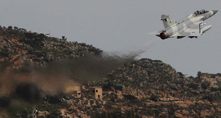 Caça do Qatar Mirage 2000 (foto de arquivo)