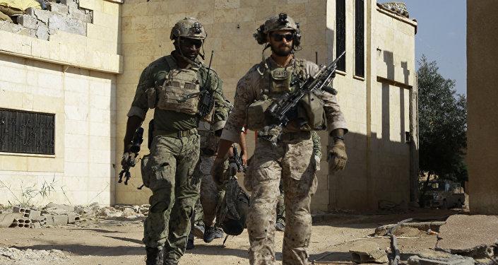 Soldados norte-americanos na Síria