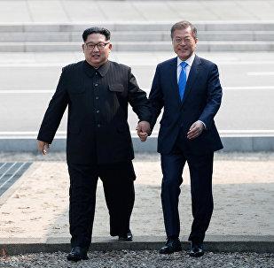 Cúpula histórica entre o presidente da Coreia do Sul, Moon Jae-in, e líder norte-coreano, Kim Jong-un