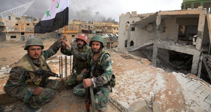 Soldados do Exército sírio (foto de arquivo)