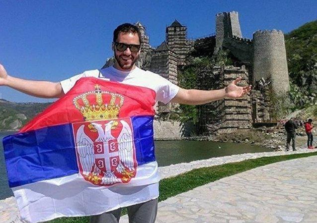 Thiago Ferreira – brasileiro que mora na Sérvia e trabalha como guia
