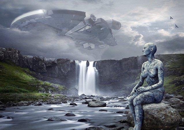 Uma extraterrestre (ilustração artística)