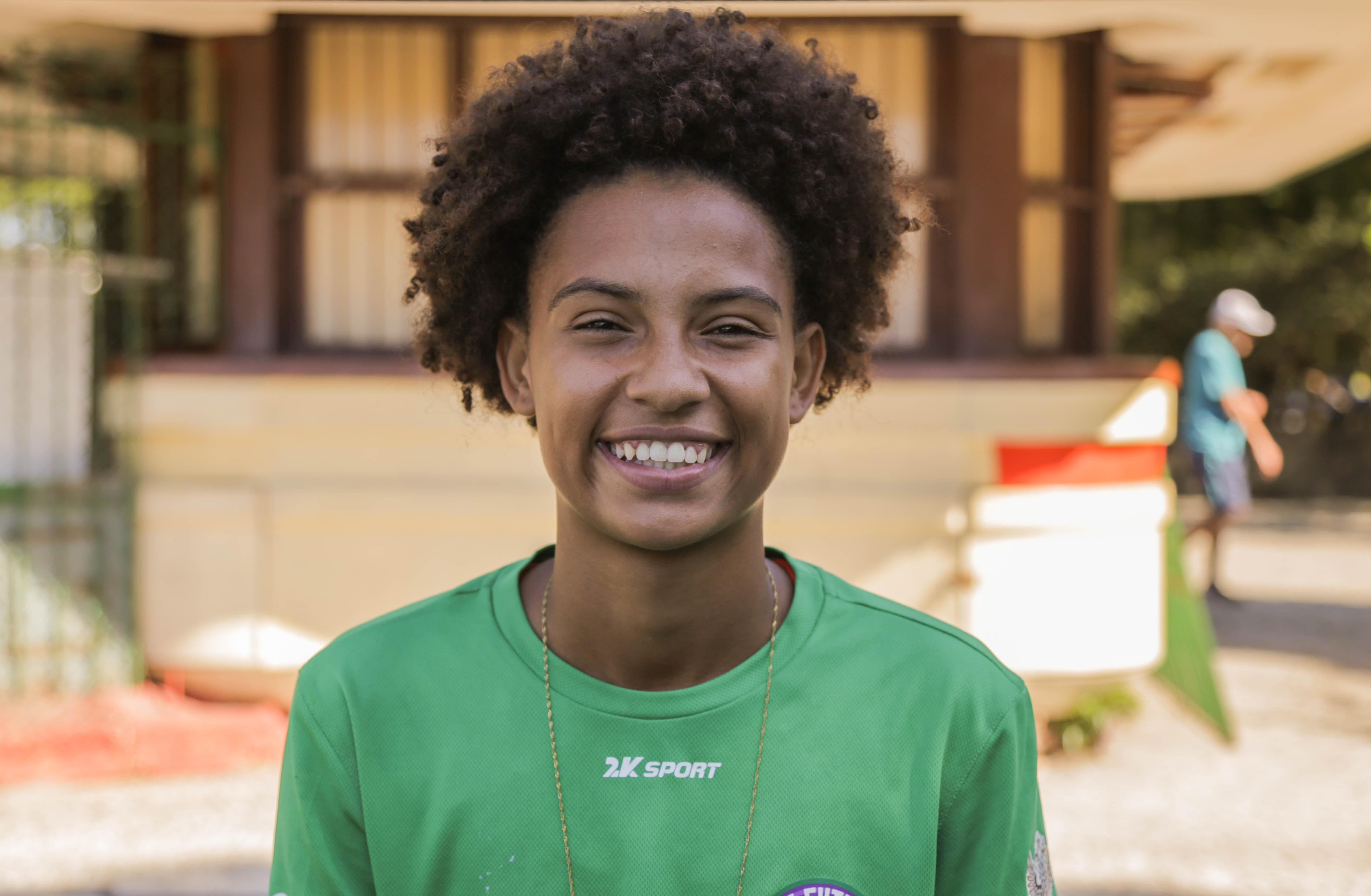 Ana Carolina Campos Lima, jogadora da seleção brasileira na Street Child World Cup 2018.