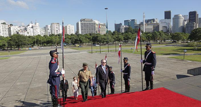 Embaixador da Rússia no Brasil, Sergei Akopov, participa das comemorações do Dia da Vitória no Rio de Janeiro.