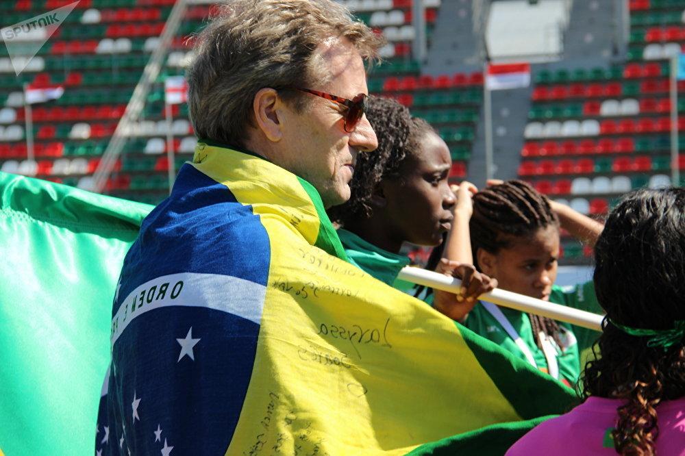 Adam Reid, presidente da associação regional da Street Child World Cup (Copa do Mundo das Crianças de Rua) no Rio