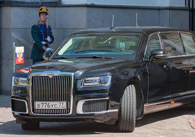 Automóvel Aurus do projeto Kortezh do presidente da Rússia, 7 de maio de 2018