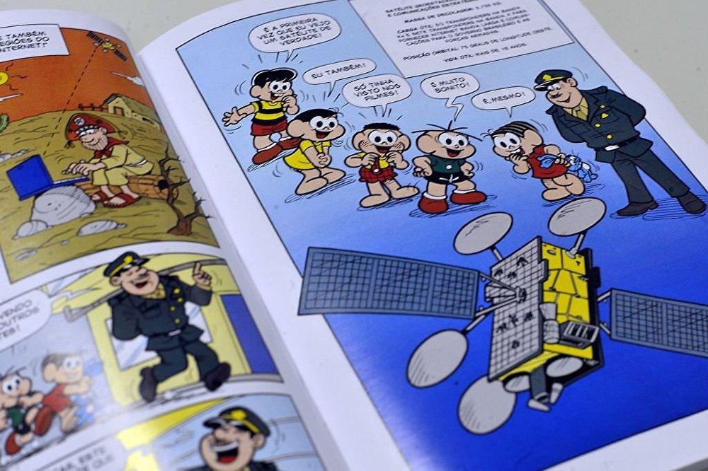 A revistinha da Turma da Mônica mostra aspectos das Forças Armadas para estudantes de escolas militares.