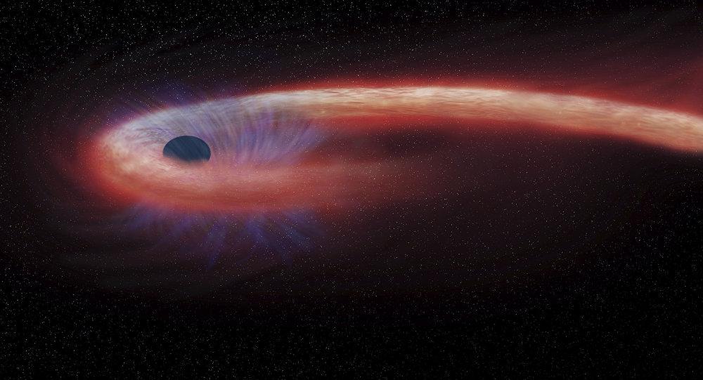 Buraco negro renderizado pela NASA