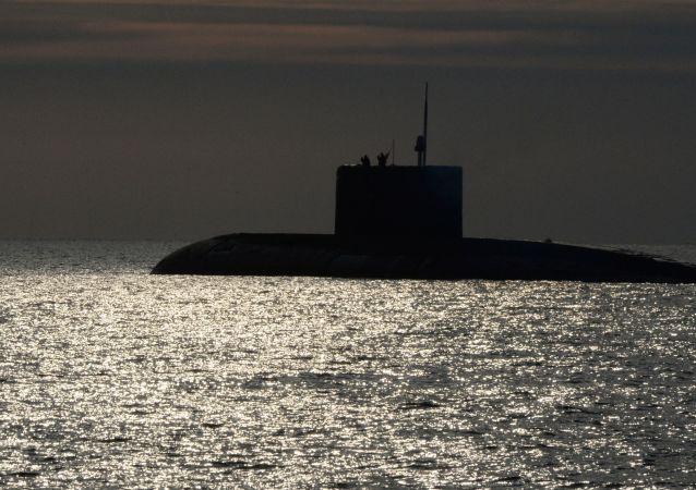 Um submarino da Frota do Pacífico da Marinha russa