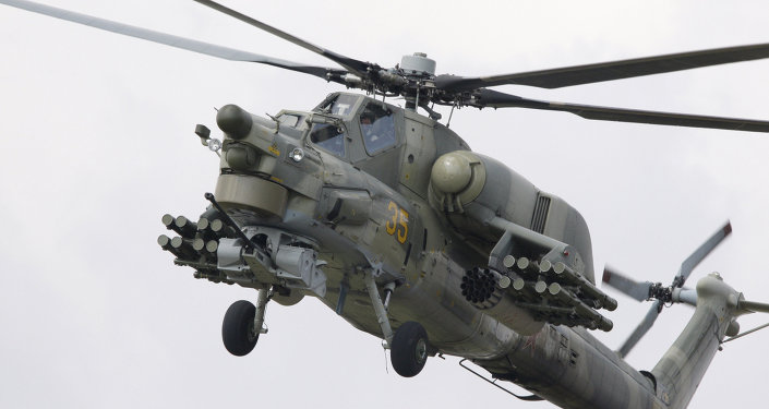 Helicóptero Mi-28.