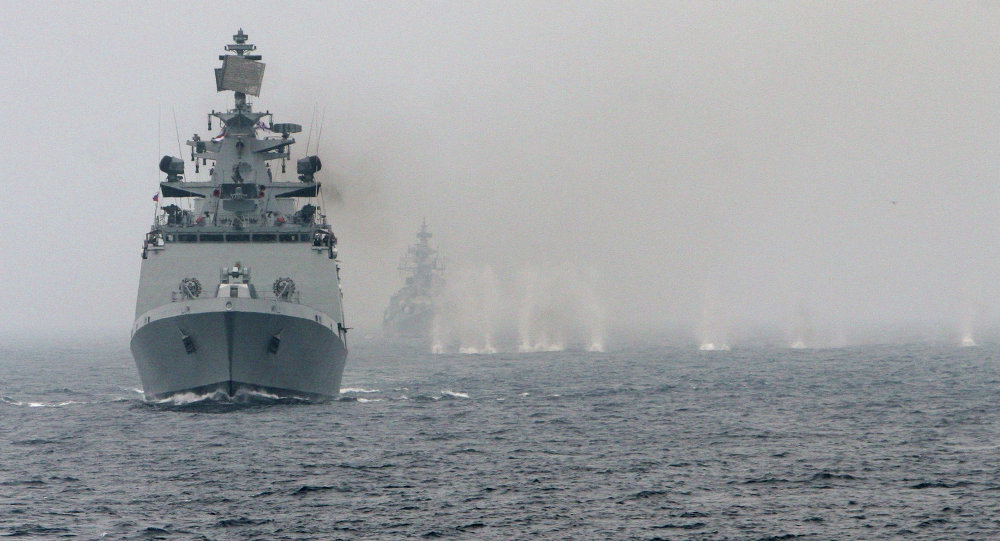 Foto de arquivo: Russian-Indian naval exercise Indra 2014