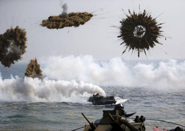 Exercícios navais conjuntos entre EUA e Coreia do Sul