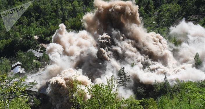 Demolição de instalações auxiliares do polígono nuclear de Punggye-ri, no norte da Coreia do Norte