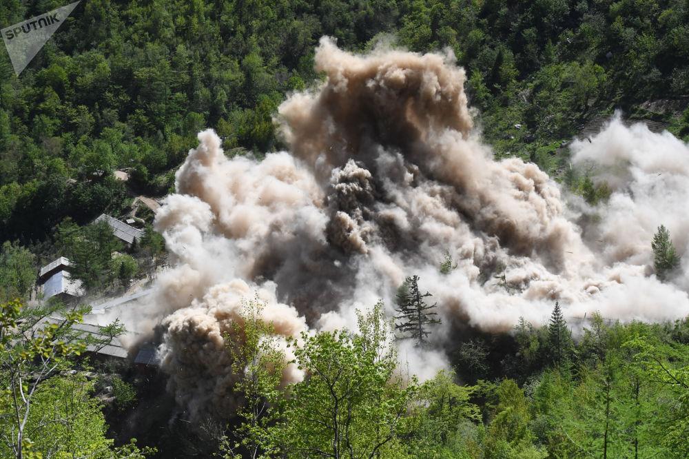 Demolição de instalações auxiliares do polígono nuclear de Punggye-ri, Coreia do Norte