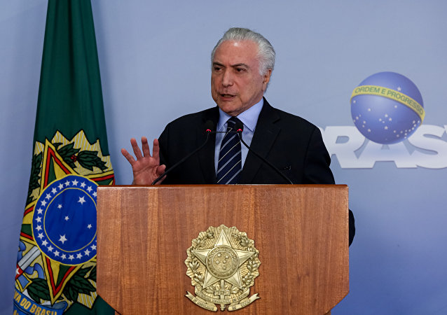 Presidente Michel Temer faz pronunciamento no Palácio do Planalto