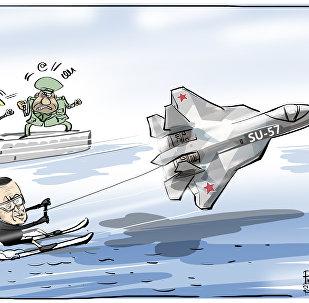 Pegar onda com caça russo deixa muita gente chateada