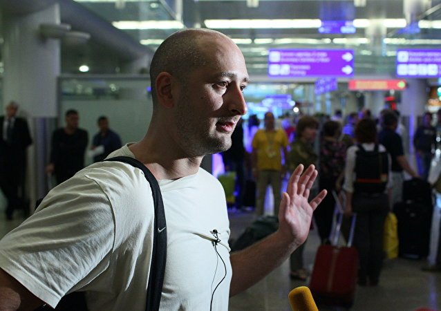 Jornalista russo, Arkady Babchenko.