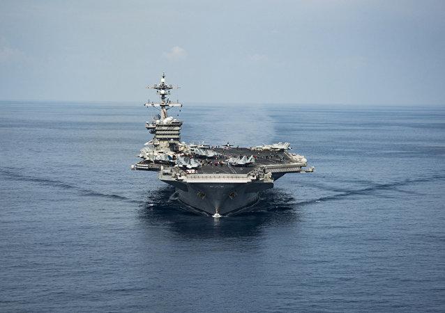Porta-aviões USS Carl Vinson (imagen referencial)
