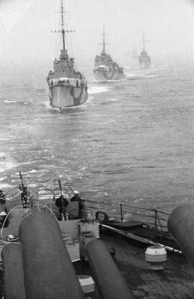 Destroieres da Frota do Norte durante a Grande Guerra pela Pátria, parte da Segunda Guerra Mundial