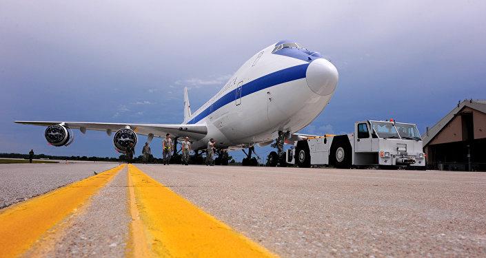 Avião Boeing E-4B, também conhecido como avião do Juízo Final (foto de arquivo)
